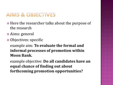 statement of objectives in research research objectives exles