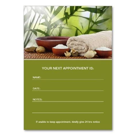 salon appointment card template 17 best images about business cards therapy on