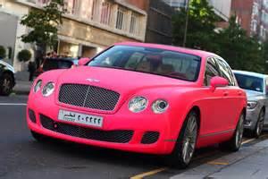 Bentley Pink Bentley Spotting Matte Pink Bentley Continental Flying