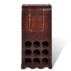 vidaxl co uk wooden wine rack for 9 bottles storage
