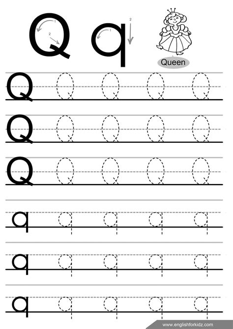 printable worksheets letter q letter tracing worksheets letters k t