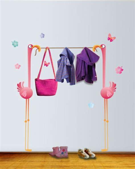 Flamingo Wandtattoo Kinderzimmer by Rosa Flamingos Wandtattoo Garderobe Wohnideen