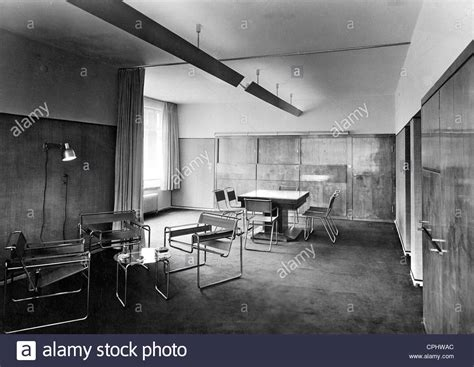 bauhaus interior interior decoration in the bauhaus style 1926 stock photo