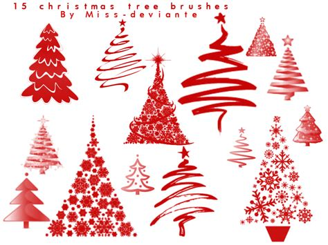 christmas tree brushes by miss deviante on deviantart