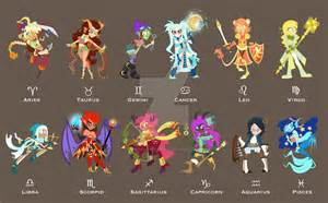 zodiac female character line up by eileenmarieart on