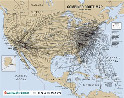 united states flight map us airways airlines usair information history pictures