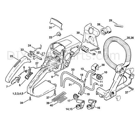 stihl ms 210 parts diagram stihl ms 210 chainbsaw ms210c b parts diagram handle