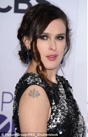 rumer willis tattoo rumer willis gets with the arm