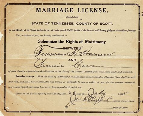State Of Michigan Marriage Records State Of Tennessee Marriage License Pictures To Pin On Pinsdaddy