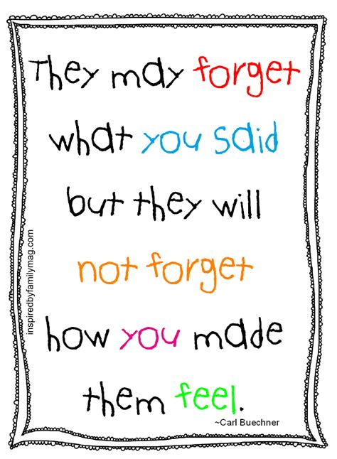 printable parenting quotes what students remember most about teachers free