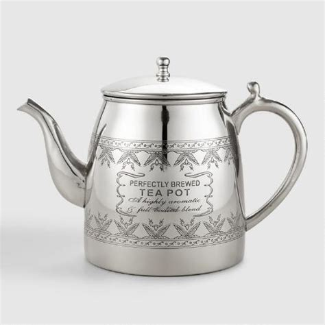 perfectly brewed stainless steel teapot world market