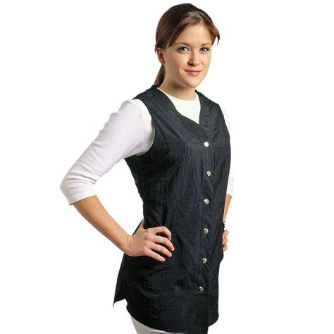 Hair Stylist Vest Apparel by Sleeveless Slim Fit Smock 910 Jmt Salon Spa