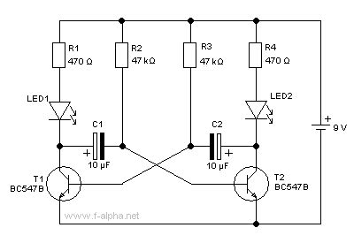 basic capacitor circuit f alpha net experiment 14 blinker circuit
