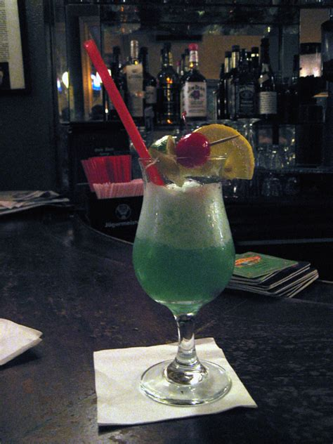 Liquid Hawaiian Cocktal blue hawaii drink