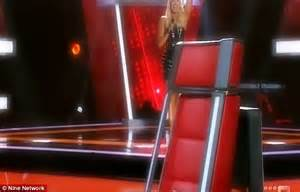 the voice chair joel madden gets flung from his chair on the voice