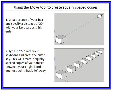 google sketchup tutorial copy creating copies with the move and rotate tools the
