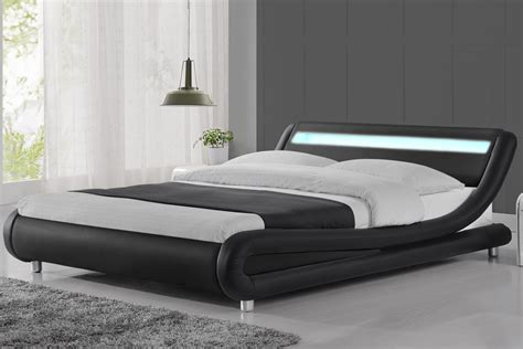 modern metal beds canada madrid led lights modern designer black bed frame single