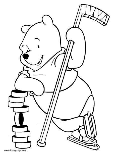 college hockey coloring pages winnie the pooh printable coloring pages 4 disney