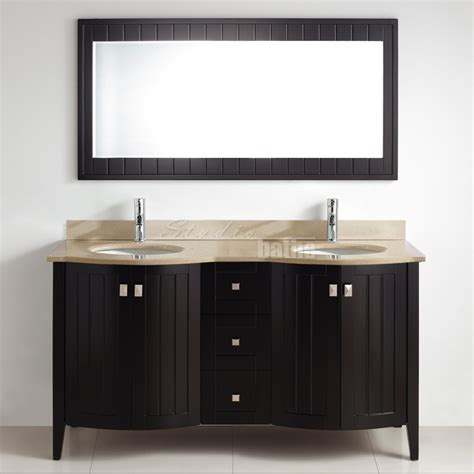 beige bathroom vanity bridgeport 60 inch modern bathroom vanity beige marble countertop espresso finish