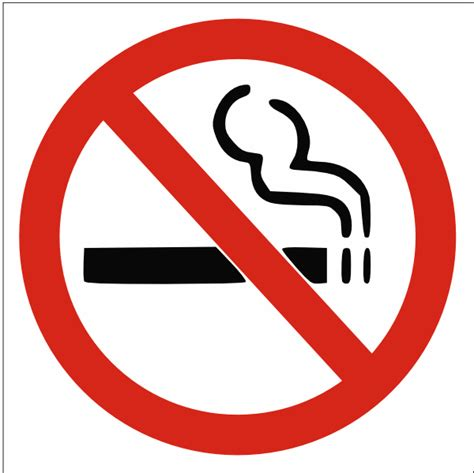 no smoking sign with picture no smoking sign clip art