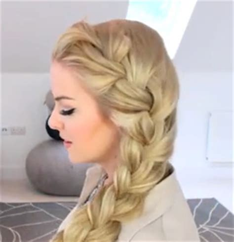 big french braids big french side braid hair tutorial