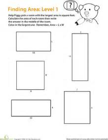 find the area of a rectangle easy worksheet education com