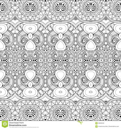 seamless tribal pattern seamless abstract tribal pattern vector stock vector