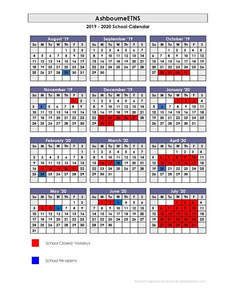 school calendar  ashbourne educate  national school