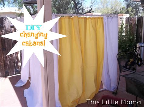diy outdoor changing room changing cabana diy this