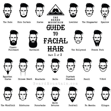 different types of beard styles on a black male the beard mountain guide to facial hair awesomeness hair