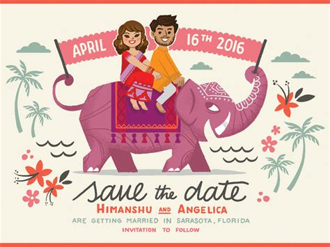 Save The Date By Himanshu Sharma Dribbble Save The Date Indian Wedding Templates Free
