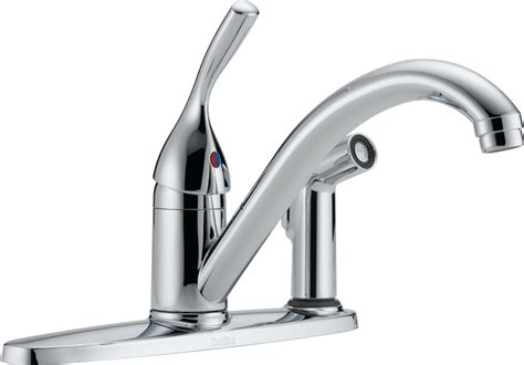 delta kitchen faucet warranty faucet 300 dst in chrome by delta