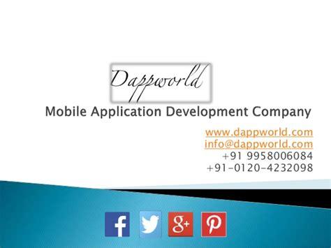 mobile application development companies mobile application development company dappworld