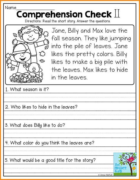 worksheet reading comprehension worksheets grade 1