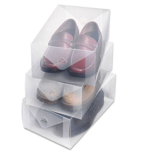 clear shoe storage boxes clear shoe storage box mens set of 3 in shoe boxes