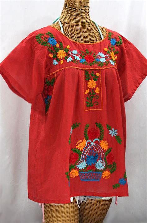 Blouse Valencia quot la valencia quot embroidered mexican style peasant top