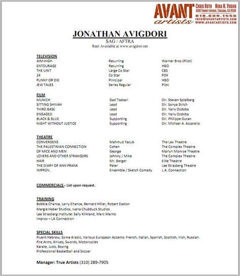 Baby Resume by 17 Best Images About Child Actor R 233 Sum 233 On A Child Acting Resume Template And