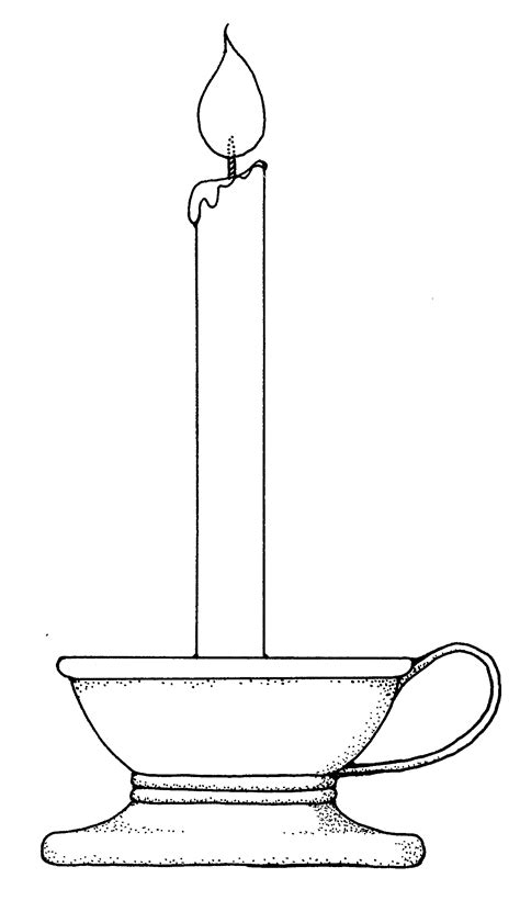 Baptismal Candle Outline by Mormon Candle 2