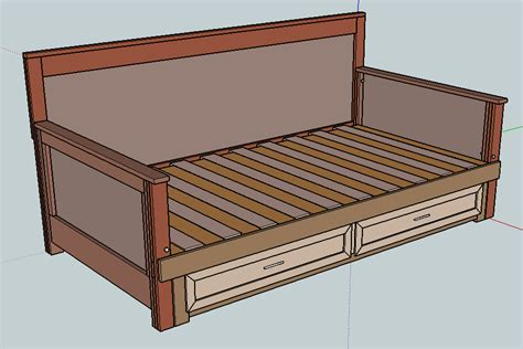 daybed plans pull out daybed do it yourself furniture