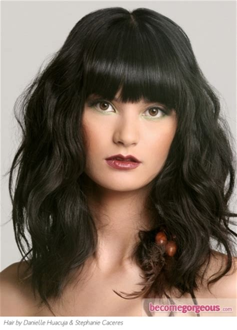 messy with long bangs pictures long hairstyles long messy hair style with
