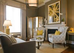 Grey And Yellow Living Room by Yellow And Gray Living Room Contemporary Living Room