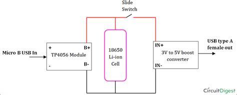 rechargeable power bank circuit diagram pdf circuit and