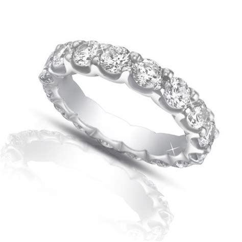 Wedding Bands Eternity by 4 00 Ct Cut Eternity Wedding Band Ring