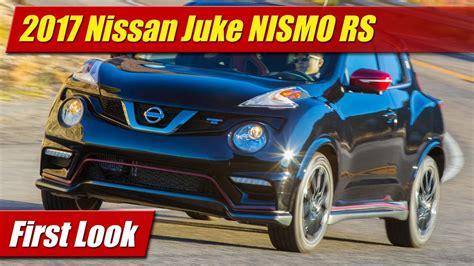 nissan juke nismo 2017 first look 2017 nissan juke nismo rs testdriven tv