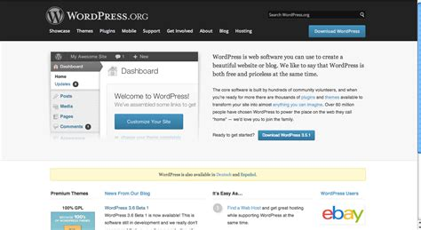 wordpress homepage layout manager plugin oven history of the wordpress org homepage