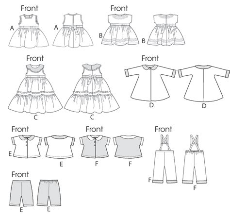 doll clothes pattern making software b5865 retro outfits for 18 quot doll sewing pattern