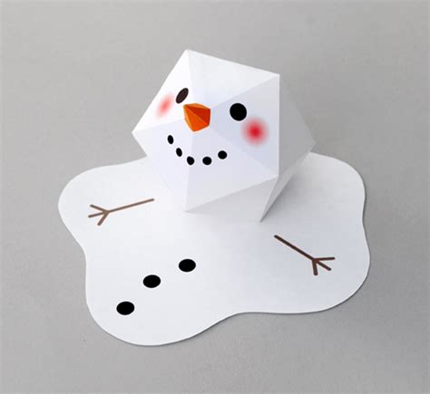 Make A Paper Snowman - 8 fancy looking paper crafts you can make with