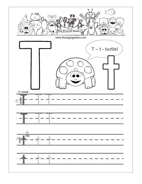 Letter T Worksheet Kindergarten by Free Printable Letter T Worksheets For Kindergarten