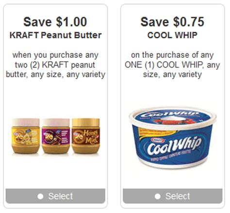 cool whip coupons new kraft coupons cool whip peanut butter canadian
