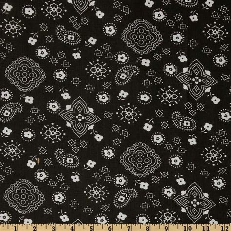 Pineapple Home Decor by Bandana Prints Black Discount Designer Fabric Fabric Com